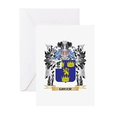 Greer Coat of Arms - Family Crest Greeting Cards