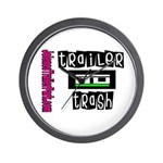 JTP Logo Trailer Trash Wall Clock