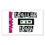 JTP Logo Trailer Trash Rectangle Sticker