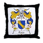 Foios Family Crest  Throw Pillow