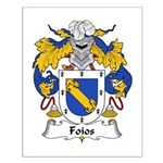 Foios Family Crest  Small Poster