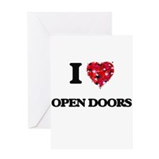 I Love Open Doors Greeting Cards