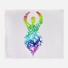 Rainbow Goddess Throw Blanket