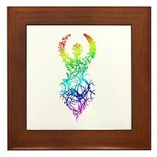 Rainbow Goddess Framed Tile