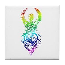 Rainbow Goddess Tile Coaster