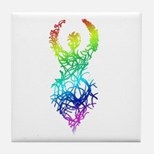 Rainbow Goddess Tile Coaster
