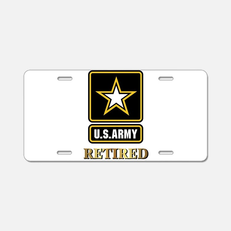 Us Army Retired Aluminum License Plate