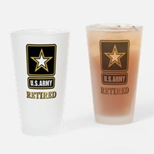 US ARMY RETIRED Drinking Glass