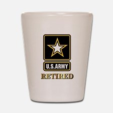 US ARMY RETIRED Shot Glass