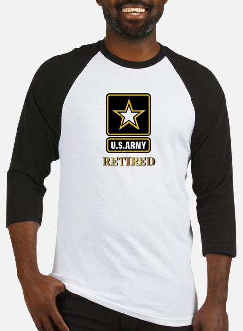 US ARMY RETIRED Baseball Jersey