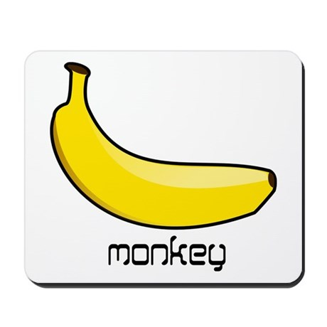 monkey likes banana Mousepad