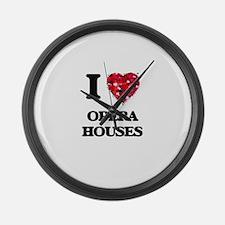 I Love Opera Houses Large Wall Clock