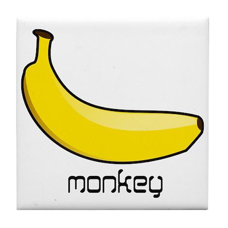 monkey likes banana Tile Coaster