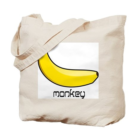 monkey likes banana Tote Bag