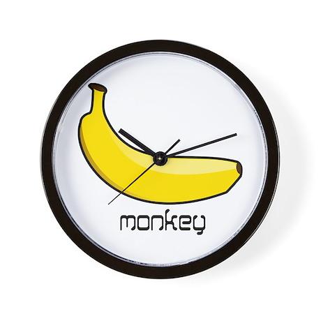 monkey likes banana Wall Clock