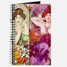 Mucha Gems Topaz & Ruby Ladies Journal