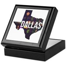 Dallas Texas Silhouette Keepsake Box