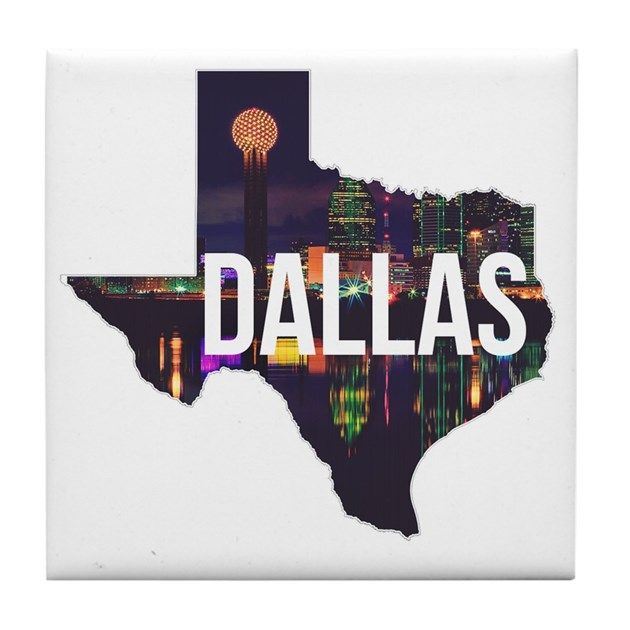 Baby Shower Stores In Dallas Tx ~ Dallas texas silhouette tile coaster by listing store