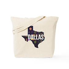 Dallas Texas Silhouette Tote Bag