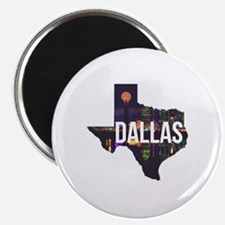 Dallas Texas Silhouette Magnet