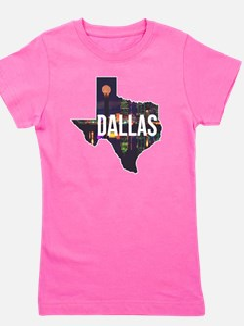 Dallas Texas Silhouette Girl's Tee