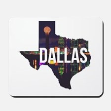Dallas Texas Silhouette Mousepad