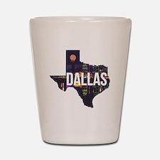 Dallas Texas Silhouette Shot Glass