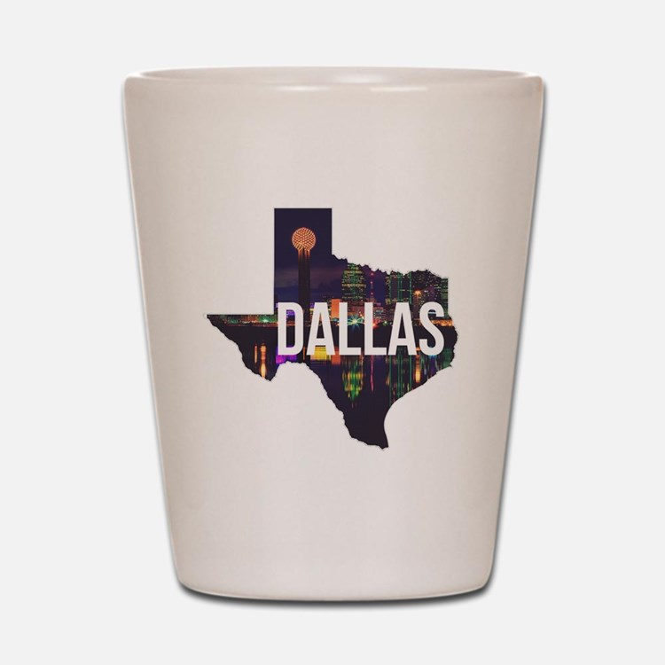 Dallas Texas Silhouette Shot Glass