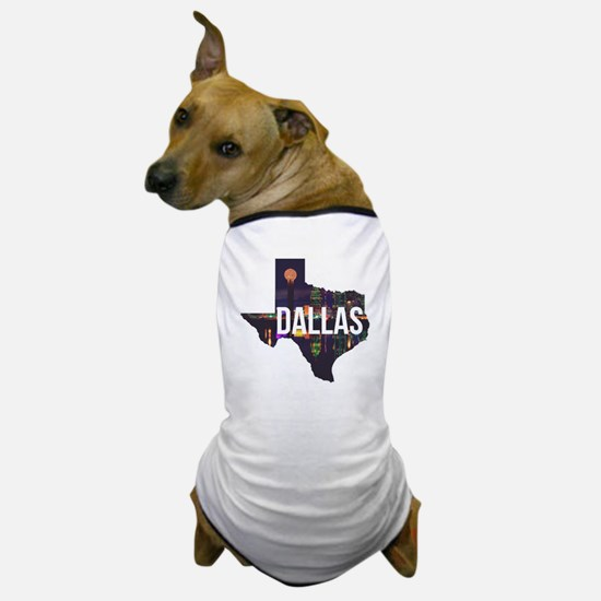 Dallas Texas Silhouette Dog T-Shirt