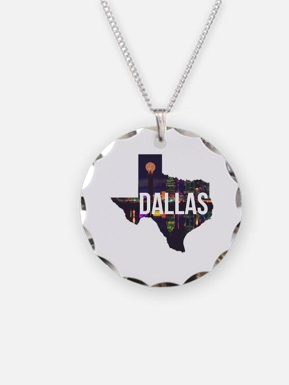 Dallas Texas Silhouette Necklace