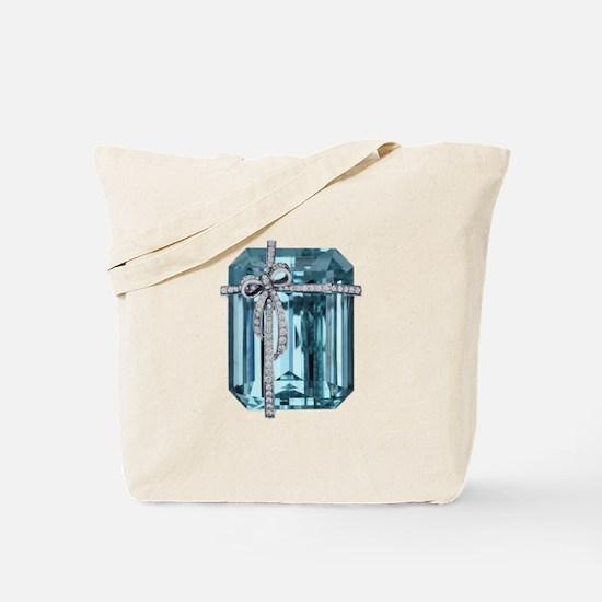 Blue-Brooch Tote Bag