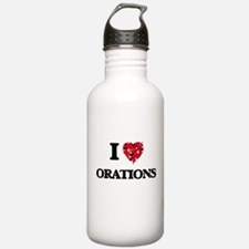 I Love Orations Water Bottle