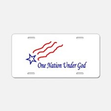 One Nation Star Aluminum License Plate