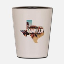 Amarillo Cadillac Ranch Shot Glass