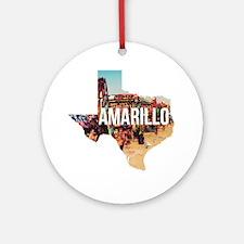 Amarillo Cadillac Ranch Round Ornament