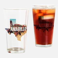 Amarillo Cadillac Ranch Drinking Glass