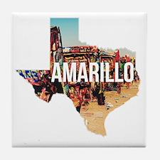 Amarillo Cadillac Ranch Tile Coaster