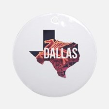 Dallas Pegasus Round Ornament