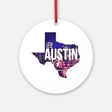 Cute Austin Round Ornament