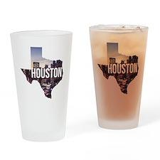 Houston, Texas Drinking Glass