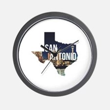 Cute San antonio texas Wall Clock