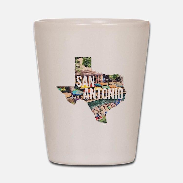 San Antonio Riverwalk, Texas Shot Glass