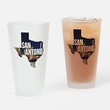 Cute Texas travel Drinking Glass