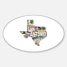 San Antonio Riverwalk, Texas Sticker (Oval)