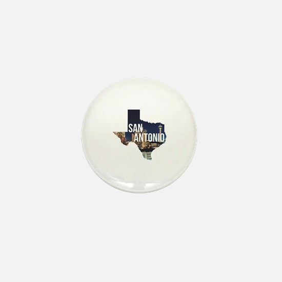 Cute San antonio texas Mini Button