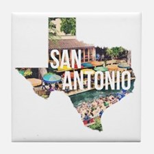 San Antonio Riverwalk, Texas Tile Coaster