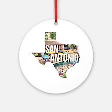 San Antonio Riverwalk, Texas Round Ornament