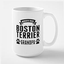 Worlds Best Boston Terrier Grandpa Mugs