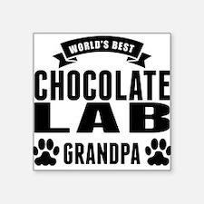 Worlds Best Chocolate Lab Grandpa Sticker