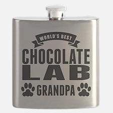 Worlds Best Chocolate Lab Grandpa Flask